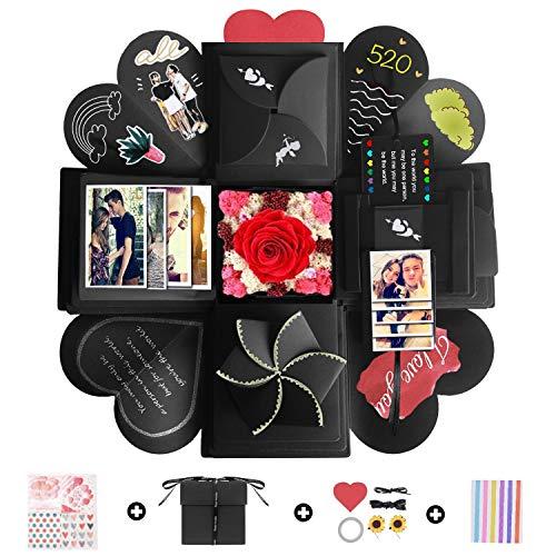 Camelize Kreative Überraschung Box, Explosions-Box,DIY Geschenk Scrapbook,Handgemachtes Faltendes Foto-Album Scrapbook für Hochzeit Geburtstag Jahrestag Valentine,Muttertag,Christmas.
