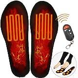 Électrique Semelles,Chauffantes avec Télécommande,Chauffe-Pieds D'Hiver,SemellesChauffantes éLectriques,Hiver Hommes Femmes Chaussures Chauffantes Semelles USB De ChargeTaille Ajustable Ski (L(41-47))