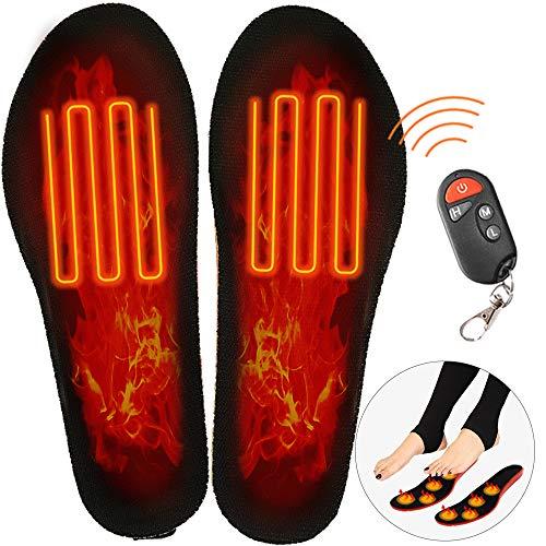 Qweidown Beheizte Einlegesohle,Elektrisch Beheizbare Einlegesohlen mit,Schuhheizung,beheizbareThermosohle,FußwärmerTemperaturregelungEinstellbare Größe...