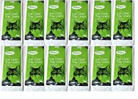Help to keep your cats litter tray nice and clean. 12 packs of 6 liners Fits trays up to 52cm x 40cm approx. To empty, gather the edges of the liner and tie with twist tie supplied, then dispose of suitably The hygienic way to dispose of used cat lit...
