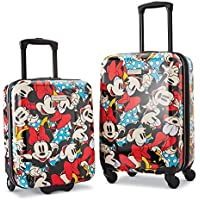 American Tourister 2 Piece Roll Aboard Luggage Set (Disney Minnie Mouse)