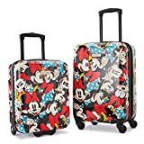 American Tourister Disney Hardside Luggage with Spinner Wheels, Minnie Mouse 2, 2-Piece Set (18/21)