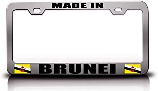 Custom Brother - Made in Brunei Flag Steel Metal License Plate Frame Ch