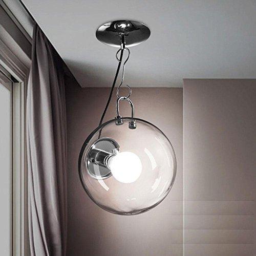 Moderne Rétro Verre Plafonnier Globe Arco Balle Luminaire pendentif Ombre E27 ampoule de perle pour Cuisine, Salle à manger Salon Chambre, Restaurant, Cafe, Bar