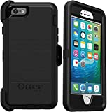 OtterBox Defender Series Rugged Case & Belt Clip Holster for iPhone 6s & iPhone 6 (NOT Plus) Non-Retail Packaging - Black - with Microbial Defense