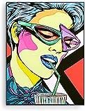 Xykhlj Arte de Color Bebiendo café Retrato﹣Pintar por NúmerosLienzo preimpresoHome Décor Pintura al óleoKits Decoración del Hogar﹣40x50cm(Sin Marco)