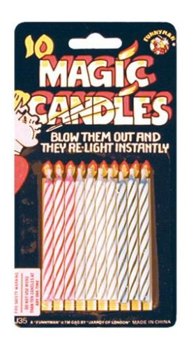 Magic Candles Practical Joke Prank - Birthday Candles That Never Go Out