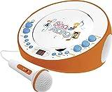 Dual CP 18Reproductor de CD con micrófono (CD, 2entradas de micrófono, Echo de Efecto, Sonido estéreo), Color Naranja