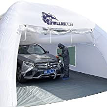 GORILLASPRO Inflatable Paint Booth, 26x16x11Ft Portable Paint Booth with One Blower(1100W), Inflatable Spray Booth with Filter System, Car Polishing, Waxing, Paint Coating Job Tent