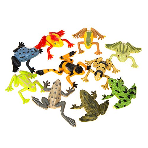 Unique Party 84785 - Plastic Frogs Party Bag Fillers, Pack of 8