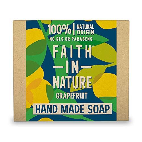 Faith in Nature Natural Grapefruit Hand Soap Bar, Invigorating Vegan & Cruelty Free, Parabens and SLS Free, 100 g