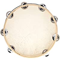 """Andoer® 10 """" Hand Held Pandereta Tambor Campana Abedul Metal Jingles Instrumento de Percusión Juguete para KTV Party Juegos Infantiles"""