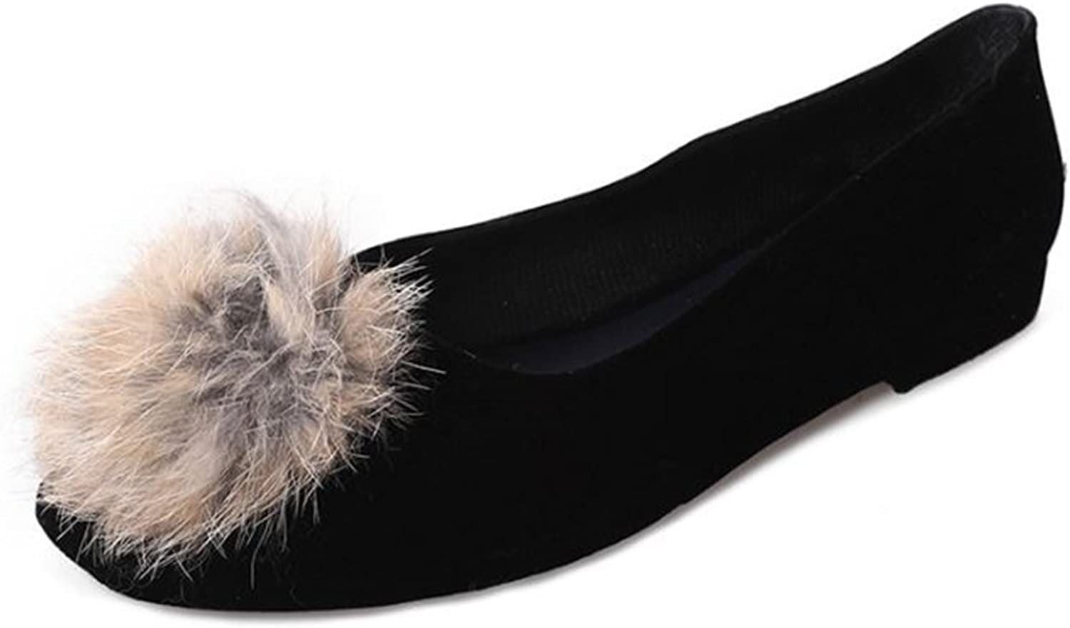 BeautyOriginal Womens Fur Slippers Slides Indoor Outdoor Flat Soles Soft Summer shoes