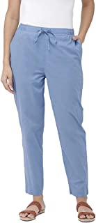 GO COLORS Women's Straight Fit Relaxed Pants