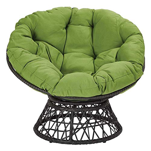 WHEAT Papasan Patio Seat Cushion, Tufted Hanging Basket Round Chair Pad Swing Seat Mat, for Indoor or Outdoor Seat Cushion Hammock Hanging Basket Swing Chair 80x80cm(31.5x31.5 inch)