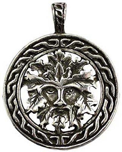 Azure Green Celtic Greenman Amulet