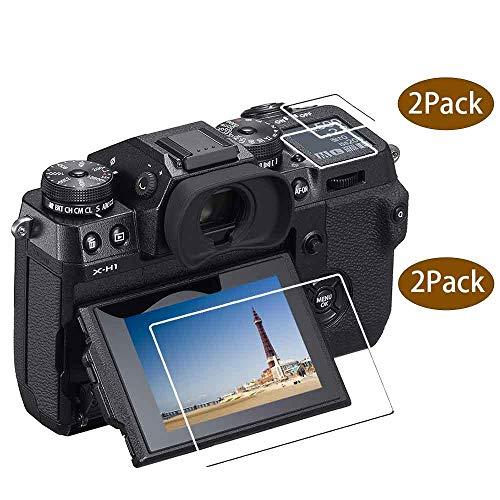 ULBTER X-H1 Displayschutz für Fujifilm X-H1 Fuji Film X-H1 Kamera, 0,3 mm Härtegrad 9H, gehärtetes Glas, volle Abdeckung, X-H1