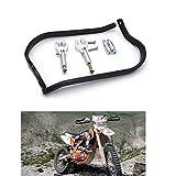 Protectores de Mano para Moto Aluminio para Motocicleta Motocross Dirtbike MX ATV Protectores de Manillar de 22mm