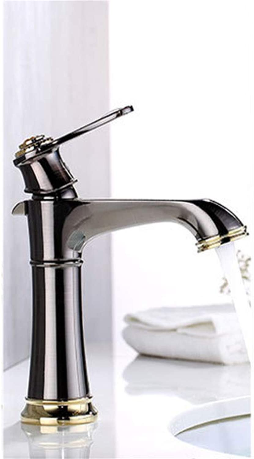 Basin Sink hot and Cold Basin Faucet, Available in a Variety of colors Brass Faucet, gold Brown