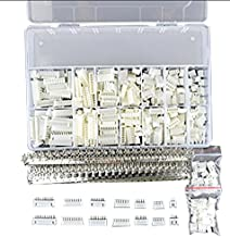 XLX 1220Pcs 2.54mm JST-XHP 2/3/4/5/6/7/8/9 Pin housing (and Pin Pedestal Housing) Kit and Male/Female Pin Header Terminals Connector Adapter Plug Set