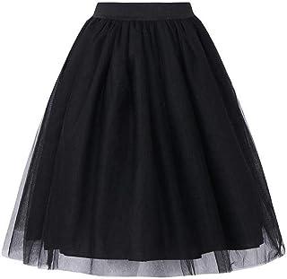 MASSAYA Women's Skirt (Black, Free Size)