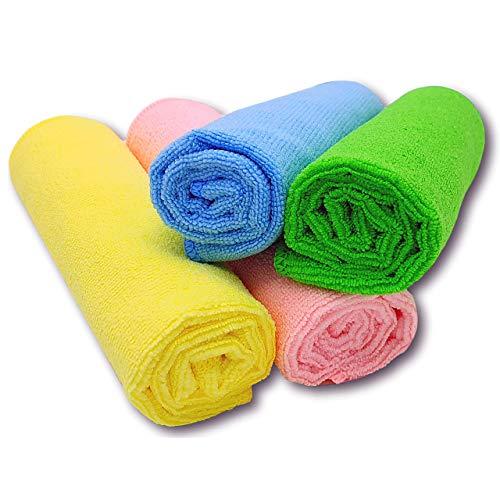 SG Produkte I Premium Microfasertücher - [4 Farben System] - Schonend weiche Microfaser Tücher für Küche und Haushalt, Autopflege, Fenster Putzen - Microfasertuch - Reinigungstücher - Putzlappen