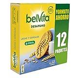Belvita Galletas con Leche y 5 Cereales Completos, Enriquecidas con Hierro, Calcio y Magnesio, Pack de 12 x 4 Unidades, 540g