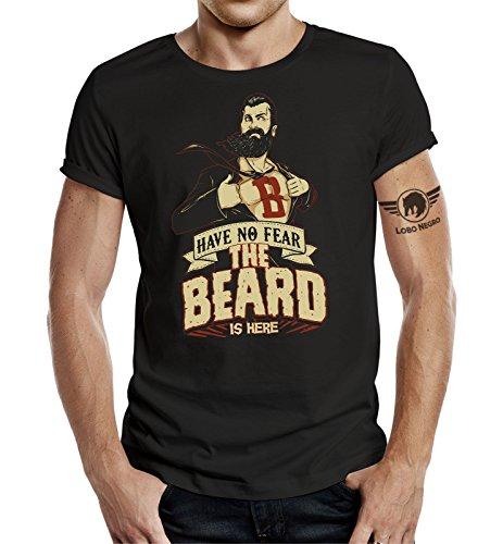 La camiseta para quien lleva la barba: No Fear, The Beard is Here. Negro L