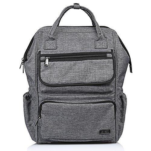 LEMESO Rucksack Damen Herren Studenten Backpack 14 Zoll Laptop Daypacks Schüler für Wandern Reisen Camping (Grau)
