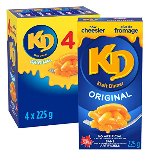4 Boîte 225g de Kraft Dinner Original - Macaroni au Fromage - 0