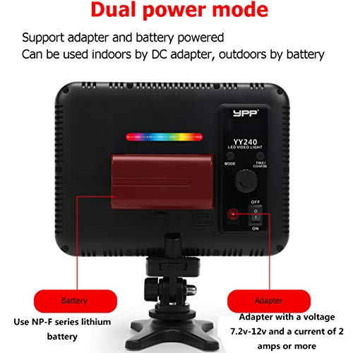 Dazzne 0-360 RGB LED Video Lights CRI 95+, 2500K-8500K Full-Color Camera Video Light TLCI 97+, HSI 1-1530 Support 10 Scene Modes for YouTube DSLR Camera Camcorder Photo Lighting with Battery
