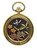 Urushi Maki-e - Reloj de Bolsillo Joga Shikunshi (púrpura, bambú, orquídea y crisantemo) 1