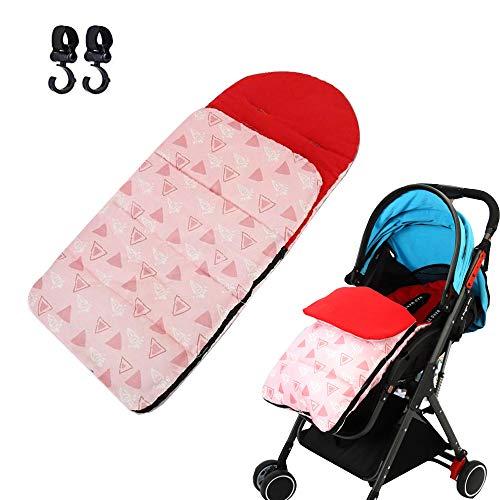 Fußsäcke für Kinderwagen Winter Thermo Fußsack Schlafsack Kinderwagenfußsack Wasserdicht Babyfußsack Universal für Buggys Babyschale mit 2 Kinderwagenhaken