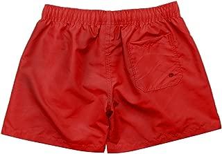 NUWFOR Men Pure Color Splice Stripe Beach Work Casual Men Short Trouser Shorts Pants(Red,US S Waist:27.56-32.28