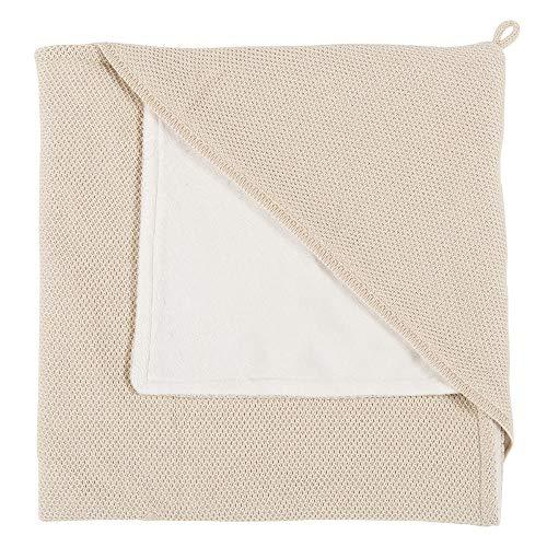 BO Baby's Only - Kapuzendecke XL - 75x75 cm - weich gepolsterte Einschlagdecke - für Jungen und Mädchen - Sand