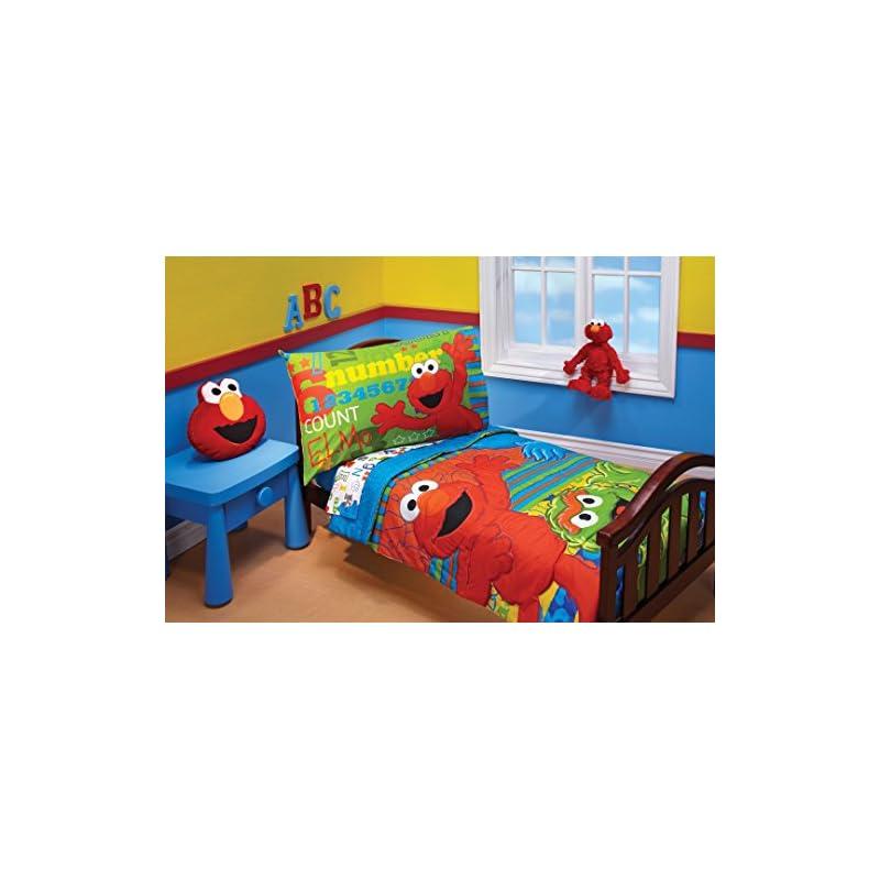 crib bedding and baby bedding sesame street abc 123 4 piece toddler set