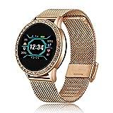 Shunxiang Smartwatch Damen Herren Sport wasserdichte Uhr Für iPhone Anruferinnerung Bluetooth...