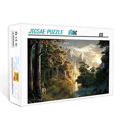 Puzzle de 1000 piezas para adultos Cañón del bosque del señor de los anillos Juego familiar, trabajo en equipo, regalo y regalo para amantes o amigos. 75x50cm