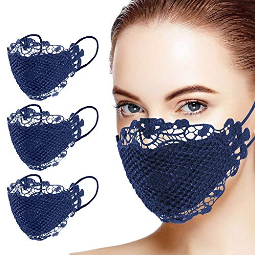Zhousir Fashion Sexy Lace Face Covers, Reusable, Face Bandanas, for Adults Air Filter Face Bandanas Adults, Washable Face Cover, Face Covering for Men Unisex, for Outdoor Cycling Ski Warm