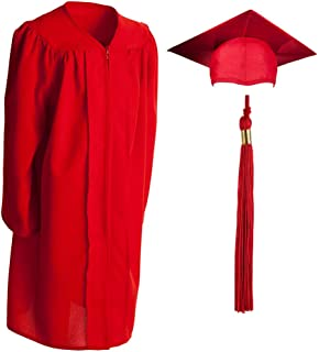Child, Matte, Graduation Gown, Cap and Tassel Set Incl 2019/2020 Signets, Polyester, Multiple Sizes and Colors