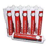 Alfa Acryl-Dichtstoff weiß 310 ml besonders schnell härtendes Maler-Acryl - nach 10 Minuten überstreichbar (10)