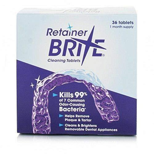 Zahnspangen Reinigungs Tabletten, für Entfernbare Apparate 36 Tabletten