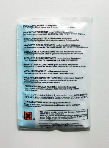 Entkalkungsset für die Nespresso ES50, ES80, CS100, CS200 und CS220