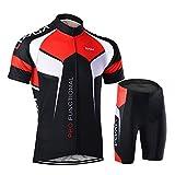 Lixada Trajes de ciclismo para hombres - Camisa de jersey de ciclismo de manga corta Medias de equitación acolchadas en 3D Conjunto de ropa de ciclismo de secado rápido