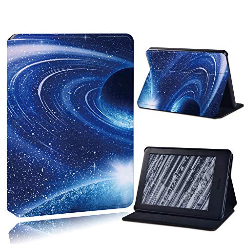 Case Cover For Kindle,Pu Leather Anti-Fall Tablet Case For Kindle Paperwhite 1/2/3/Paperwhite(5Th/6Th/7Th/10Th)/For Kindle (10Th /8Th)6 Inch + Stlyus /Blue Milky Way/Anti Dust Fashion Accessories,For