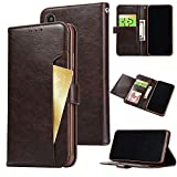 FLYEE iPhone Xs Max Case, iPhone Xs Max Wallet Case, Slim Folio Book Cover PU Leather Magnetic Protective Cover with Credit Card Slots, Cash Pocket, Stand Holder for iPhone Xs Max 6.5 inch Brown