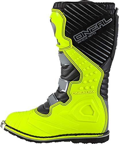 O'Neal Rider Boot MX Cross Stiefel Grau Gelb Hi-Viz Motorrad Enduro Motocross Offroad, 0329-9, Größe 43 - 4