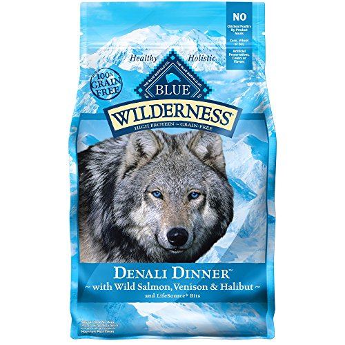 Blue Buffalo Blue Wilderness Denali Dinner with Wild Salmon Venison & Halibut Dry Dog Food, 4 lbs.