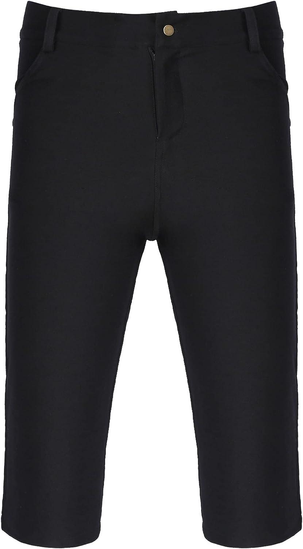 iiniim Men's Slim Jean Shorts Casual Classic Fit Skinny Denim Shorts with Pockets
