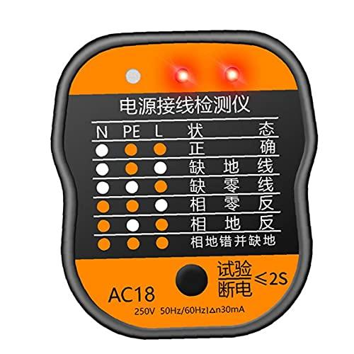 Probador de cableado de energía ANENG, probador de salida de zócalo AC18,...